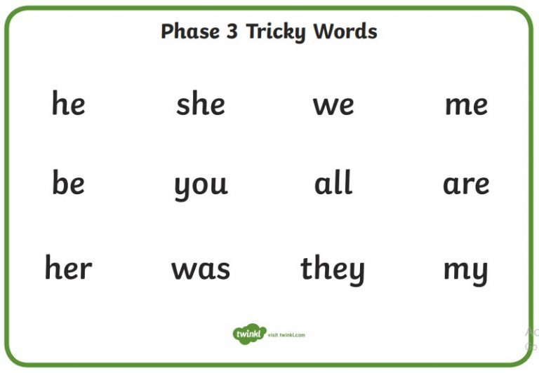 Tricky words mat phase 3 – St Thomas More Catholic First School